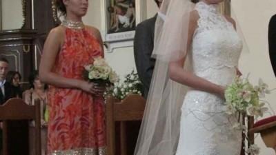 suknia hiszpańska z bolerkiem z salonu Madonna - St.Patrick-Rondalla - OKAZJA