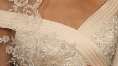 Suknia kremowa Atelier Diagonal roz.36 + halka i welon