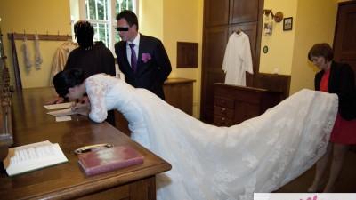 Suknia La Sposa LORCA,  odpinany tren 5m
