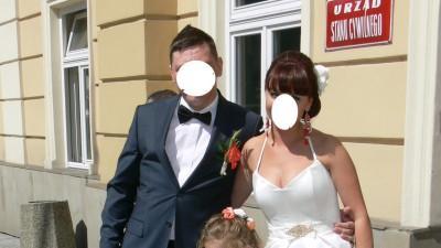 Suknia na ślub cywilny lub do przebrania po północy