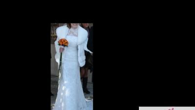 Suknia na zimowy ślub:)