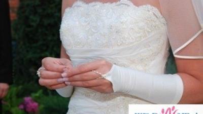 SUKNIA : RONALD JOYCE BRIDAL COLLECTION GORSET SUKNI Z PIĘKNYM HAFTEM SPÓDNICA D