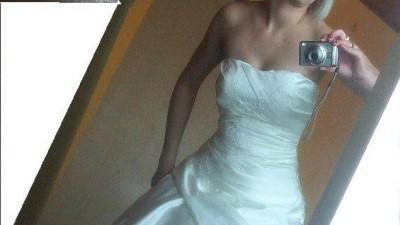 suknia rozmiar 38, kolor ivory