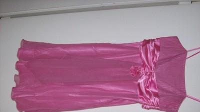 suknia różowo-wrzosowa