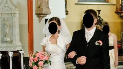 Suknia ślubna 34/36 śnieżnobiała