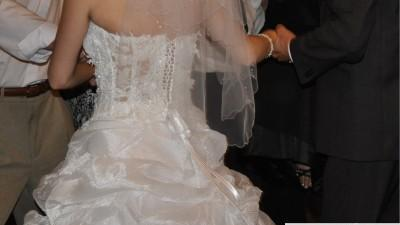 Suknia ślubna 36-38 gorset sznurowany +spódnica
