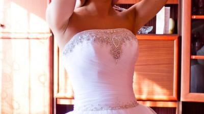 suknia ślubna 36-38, LINETTA, biała