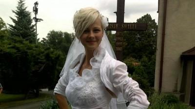 suknia ślubna 36, bolerko, parasol itp. dodatki