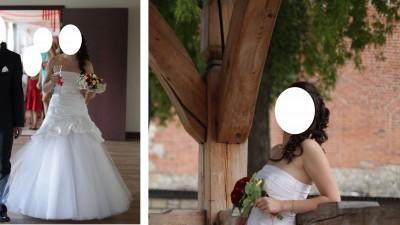 SUKNIA ŚLUBNA 36 sprzedam suknię ślubną PAPA MICHEL