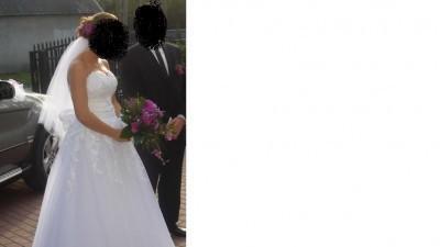Suknia Ślubna a'la Justin Aleksander 8465 + bolerko
