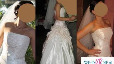 Suknia ślubna Agnes model 4611_653a + GRATISY!!! Stan bdb!!!