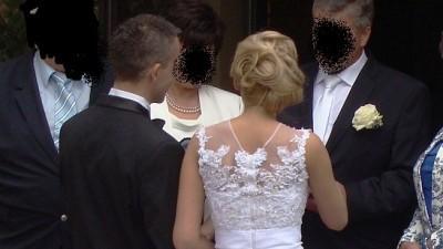 Suknia ślubna agora 34/36 piękna lekka koronka + dodatki + SMOKING