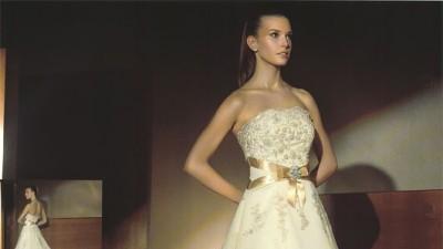 Suknia  Ślubna Atelier Diagonal 36-38 kol. biała perła