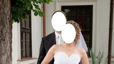 Suknia ślubna, biała, 42