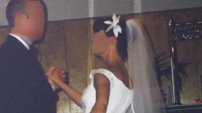 Suknia ślubna biała dwuczęściowa 36
