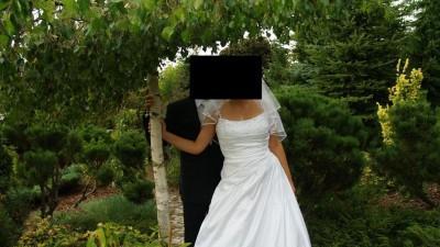 Suknia ślubna Biała Klasyczna Litera A Sweetheart 5856