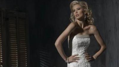 Suknia ślubna biała linia A