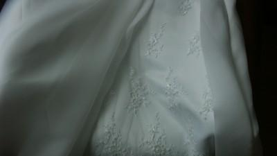 suknia ślubna, biała, organtyna, na kole, mały rozmiar ;)