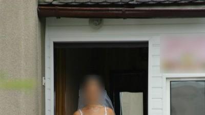 SUKNIA ŚLUBNA biała, rozmiar 36