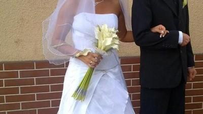 Suknia ślubna, biała rozmiar 38