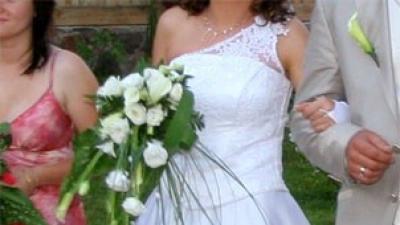 Suknia Ślubna biała śliczna polecam 38 !!