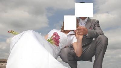 suknia ślubna biała z atłasu