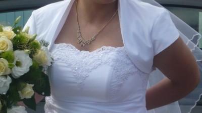 Suknia ślubna biała z welonem