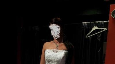 Suknia ślubna BLANCA , z salonu EVITA ,ostani model, KRAKÓW, BIEL