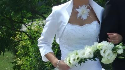 Suknia ślubna + bolerko
