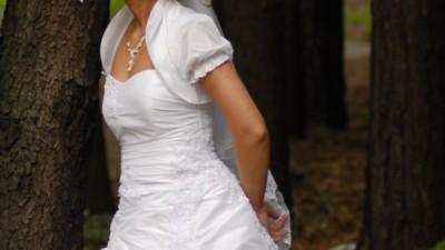 Suknia ślubna + bolerko + buty