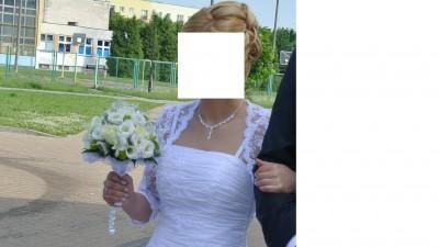 Suknia ślubna + bolerko + buty nr 37