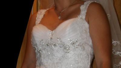 Suknia Ślubna +Bolerko+Welon- KRAKOW