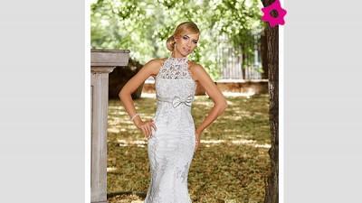 Suknia ślubna Carmen (syrena z koronki)