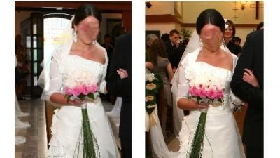 Suknia ślubna Cymbeline MARIEES DE PARIS model HANAN 2009, r. 36/38 -1500zł