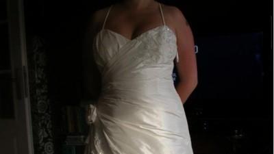 suknia slubna delikata, subtelna i kobieca