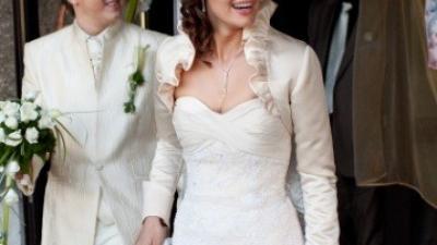 Suknia ślubna Demetrios 1356 + welon i bolerko