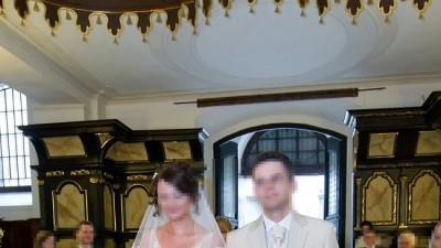suknia ślubna dla bardzo WYSOKIEJ  kobietki
