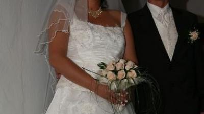Suknia ślubna duża i piękna rozmiar 50.
