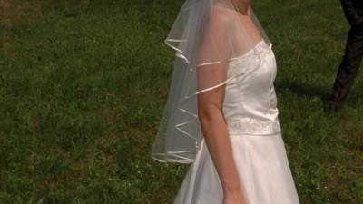 Suknia ślubna ecri bardzo ładna tania w bardzo dobrym stanie