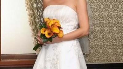 Suknia ślubna, ecri, rozm. 38