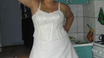 suknia ślubna ecri rozm.44-46-48-50-52