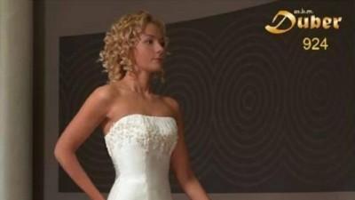 Suknia ślubna ecru, 34, 36, 38 Duber, model 924, gratisy