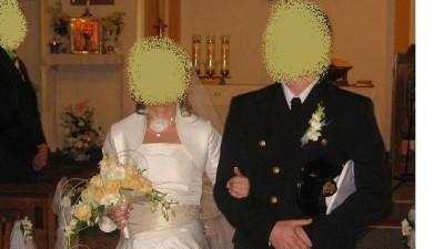 Suknia ślubna ecru/capuccino