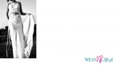 Suknia ślubna ecru rozmiar 38 + bolerko
