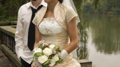 suknia ślubna ecru ze złotem 36/38, 167cm, śląsk