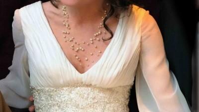 Suknia ślubna Efate z dodatkami/ rozmiar 38