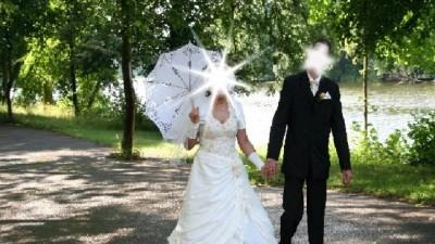 Suknia ślubna - ekri - TANIO!