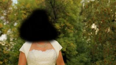 Suknia ślubna Elizabeth Konin 36/38 wzr 155 ecru + dodatki