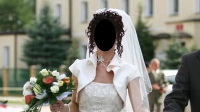 Suknia ślubna firmy Herm's model Liametti + dodatki
