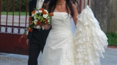 Suknia ślubna firmy La Sposa.